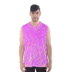 Pink Pattern Men s Basketball Tank Top