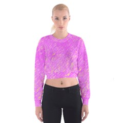 Pink pattern Women s Cropped Sweatshirt