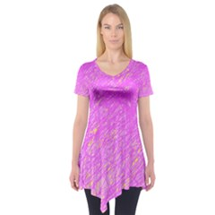Pink pattern Short Sleeve Tunic