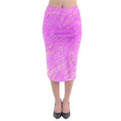 Pink pattern Midi Pencil Skirt