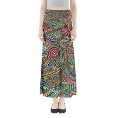 Colorful Hippie Flowers Pattern, zz0103 Maxi Skirts