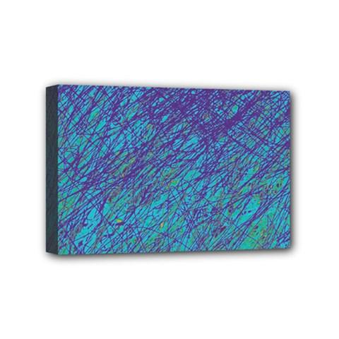Blue pattern Mini Canvas 6  x 4
