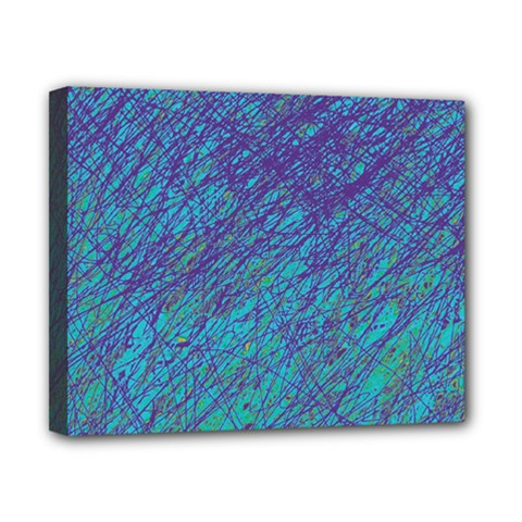 Blue pattern Canvas 10  x 8