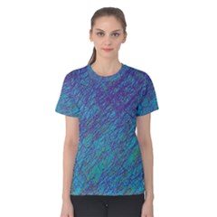 Blue pattern Women s Cotton Tee