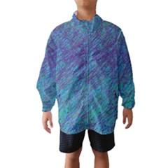 Blue Pattern Wind Breaker (kids)