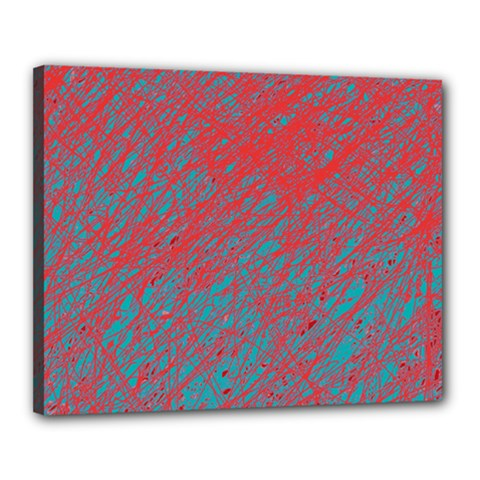 Red and blue pattern Canvas 20  x 16