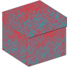 Red and blue pattern Storage Stool 12