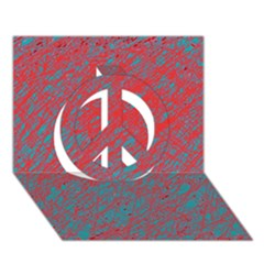 Red and blue pattern Peace Sign 3D Greeting Card (7x5)