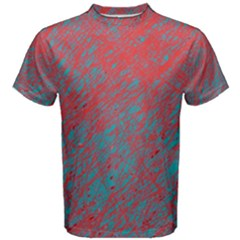 Red and blue pattern Men s Cotton Tee