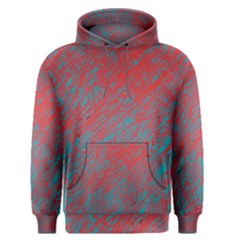 Red and blue pattern Men s Pullover Hoodie