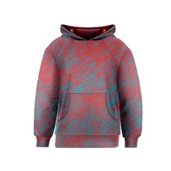 Red and blue pattern Kids  Pullover Hoodie