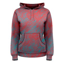 Red and blue pattern Women s Pullover Hoodie
