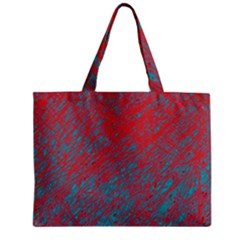 Red and blue pattern Zipper Mini Tote Bag