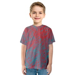 Red And Blue Pattern Kid s Sport Mesh Tee