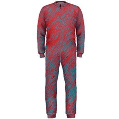 Red and blue pattern OnePiece Jumpsuit (Men)