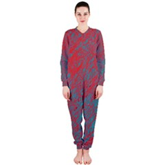 Red and blue pattern OnePiece Jumpsuit (Ladies)