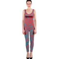 Red and blue pattern OnePiece Catsuit