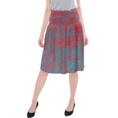 Red and blue pattern Midi Beach Skirt