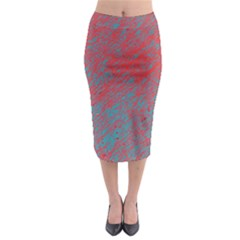 Red and blue pattern Midi Pencil Skirt