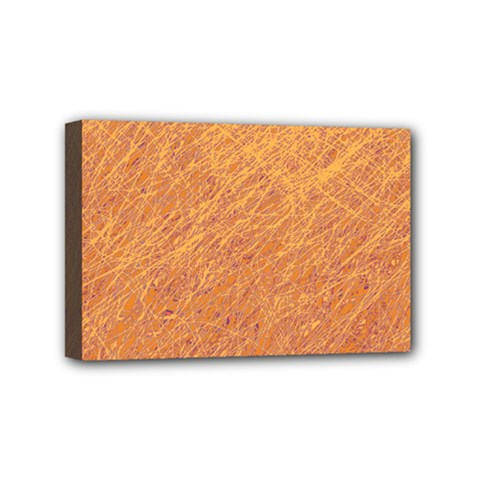 Orange pattern Mini Canvas 6  x 4