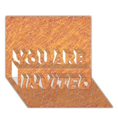 Orange pattern YOU ARE INVITED 3D Greeting Card (7x5)