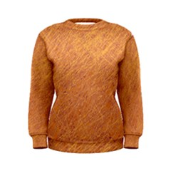 Orange pattern Women s Sweatshirt