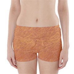 Orange Pattern Boyleg Bikini Wrap Bottoms