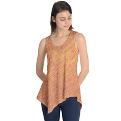 Orange Pattern Sleeveless Tunic
