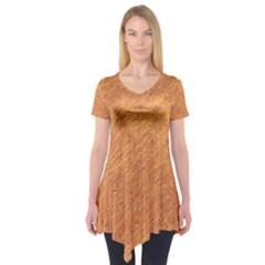 Orange pattern Short Sleeve Tunic