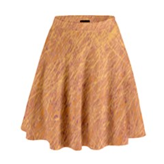 Orange pattern High Waist Skirt