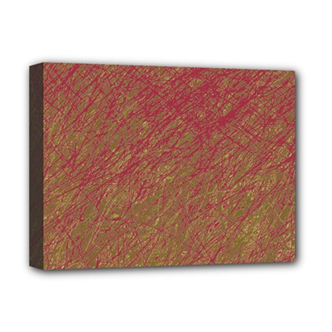 Brown pattern Deluxe Canvas 16  x 12