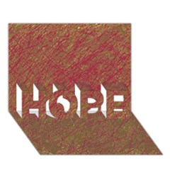 Brown pattern HOPE 3D Greeting Card (7x5)