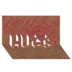 Brown pattern HUGS 3D Greeting Card (8x4)