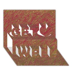 Brown pattern Get Well 3D Greeting Card (7x5)