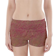 Brown pattern Boyleg Bikini Wrap Bottoms