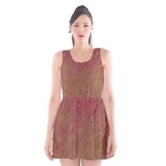 Brown pattern Scoop Neck Skater Dress
