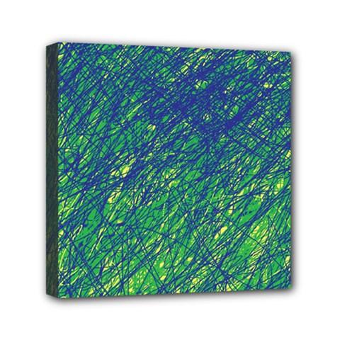 Green pattern Mini Canvas 6  x 6
