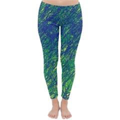 Green pattern Winter Leggings