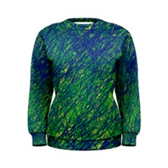Green pattern Women s Sweatshirt