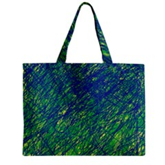 Green pattern Zipper Mini Tote Bag