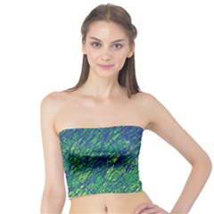 Green pattern Tube Top