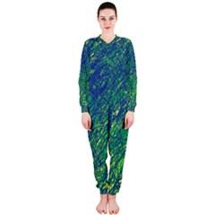 Green pattern OnePiece Jumpsuit (Ladies)