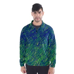 Green Pattern Wind Breaker (men)