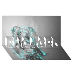 Dog Engaged 3d Greeting Card (8x4)