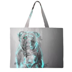 Dog Zipper Large Tote Bag