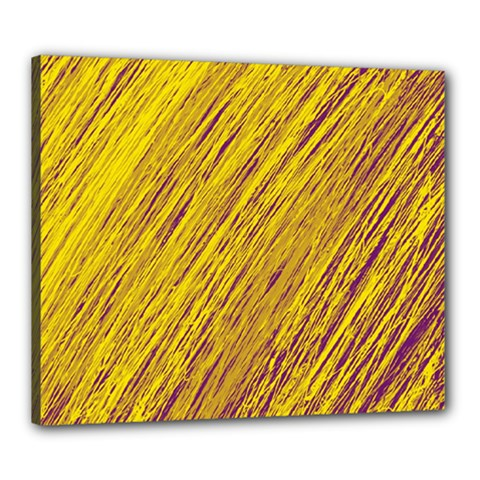 Yellow Van Gogh pattern Canvas 24  x 20