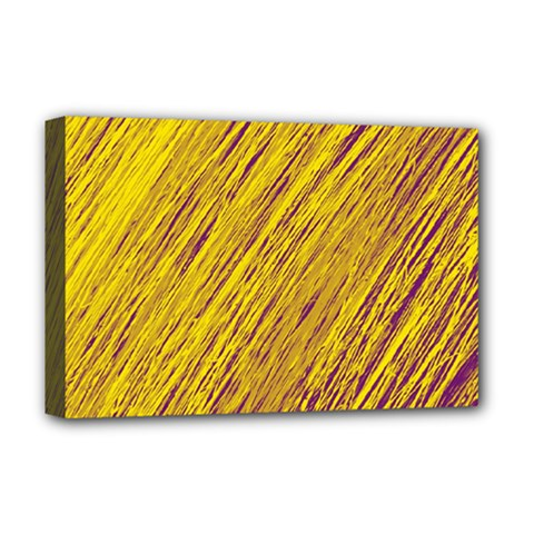 Yellow Van Gogh pattern Deluxe Canvas 18  x 12