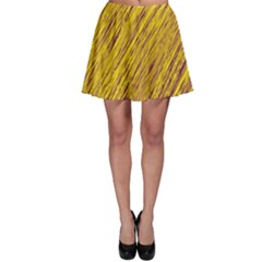 Yellow Van Gogh pattern Skater Skirt