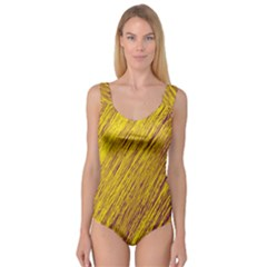 Yellow Van Gogh pattern Princess Tank Leotard