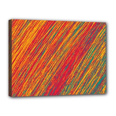 Orange Van Gogh pattern Canvas 16  x 12